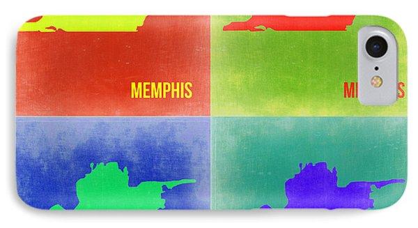 Memphis Pop Art Map 2 Phone Case by Naxart Studio