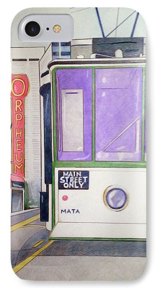 Memphis Trolley IPhone Case by Loretta Nash