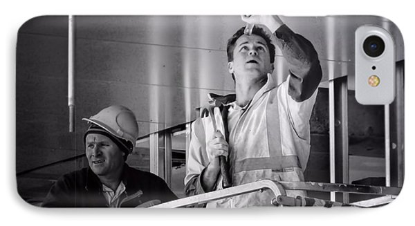 IPhone Case featuring the photograph Men At Work by Wallaroo Images