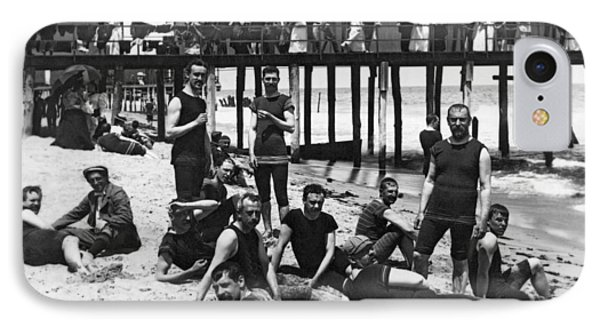 Men Bathers By The Boardwalk IPhone Case by Underwood Archives
