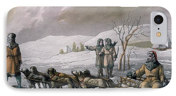 Men Of Kamchatska, With A Dog Sleigh IPhone Case by Italian School