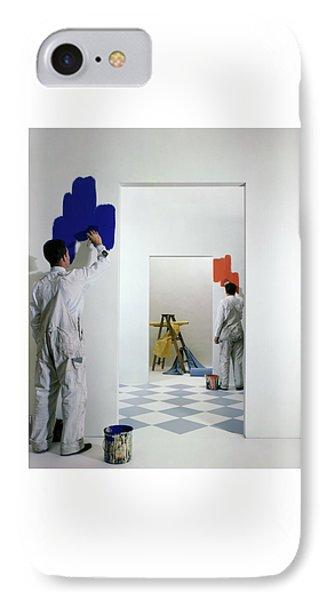 Men Painting Walls IPhone Case