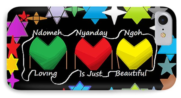 IPhone Case featuring the digital art Mende Truths And Proverbs 0001 by Mudiama Kammoh