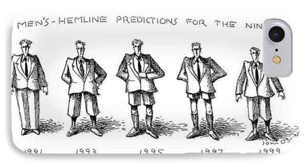 Men's-hemline Predictions For The Nineties IPhone Case by John O'Brien