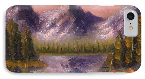 IPhone Case featuring the painting Mental Mountain by Jason Williamson