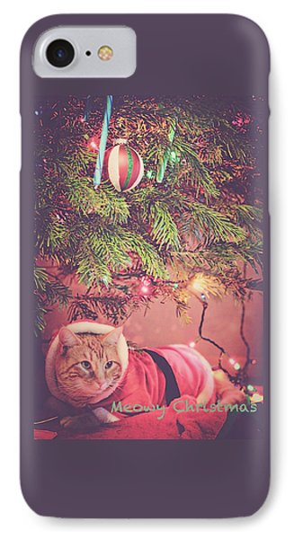 Meowy Christmas IPhone Case by Melanie Lankford Photography