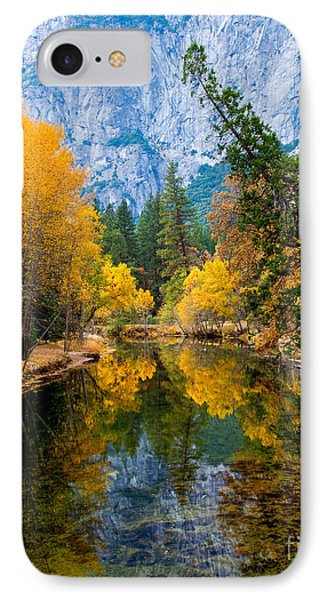 Merced River And Leaning Pine IPhone Case by Terry Garvin