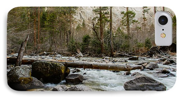 Merced River From Happy Isles 2 IPhone Case by Terry Garvin