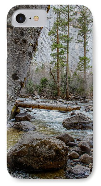 Merced River From Happy Isles IPhone Case by Terry Garvin