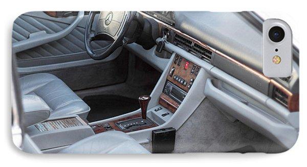 Mercedes 560 Sec Interior Phone Case by Gunter Nezhoda