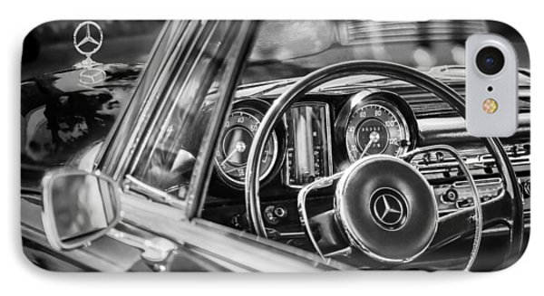 Mercedes-benz 250 Se Steering Wheel Emblem IPhone Case by Jill Reger