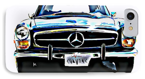 Mercedes Benz 280sl Roadster IPhone Case by Samuel Sheats