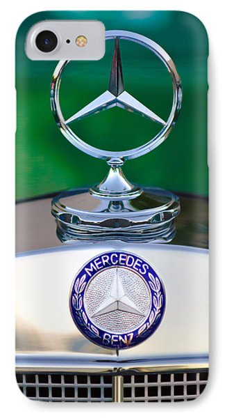 Mercedes Benz Hood Ornament 3 Phone Case by Jill Reger