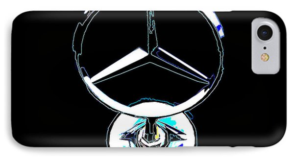 IPhone Case featuring the photograph Mercedes Logo 2 by Samuel Sheats