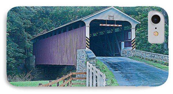 Mercer's Mill Covered Bridge IPhone Case