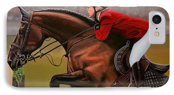 Horse iPhone 7 Case - Meredith Michaels Beerbaum by Paul Meijering