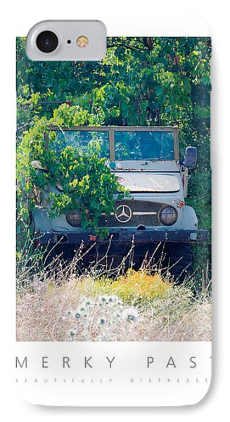 IPhone Case featuring the digital art Merky Past Beautifully Distressed Poster by David Davies