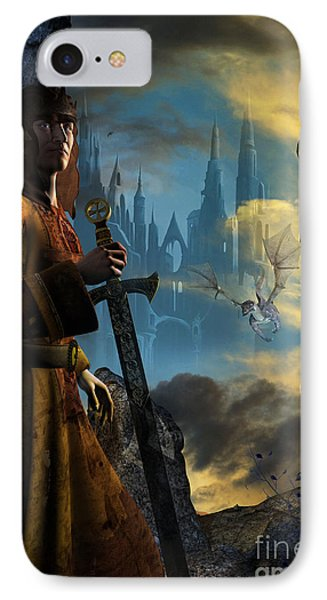 IPhone Case featuring the digital art Merlin by Shadowlea Is