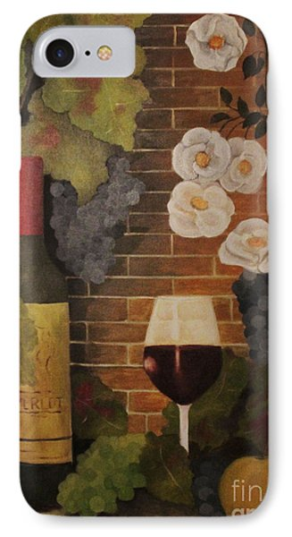IPhone Case featuring the painting Merlot For The Love Of Wine by John Stuart Webbstock