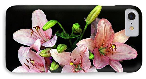 Merlot Lilies IPhone Case