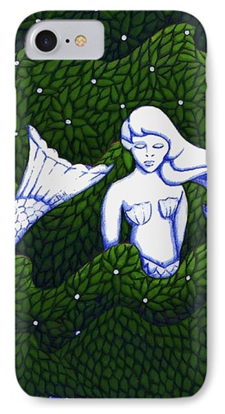 Mermaid At The Garden IPhone Case by Donna Huntriss