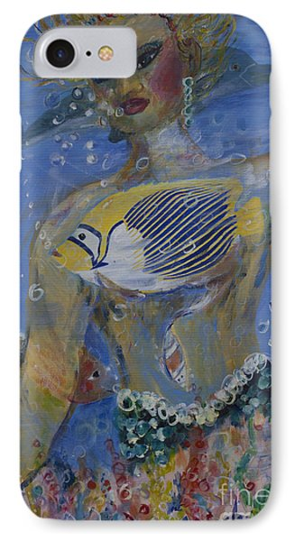 IPhone Case featuring the painting Mermaid by Avonelle Kelsey