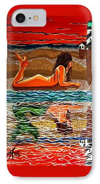Mermaid Day Dreaming  IPhone Case by Jackie Carpenter
