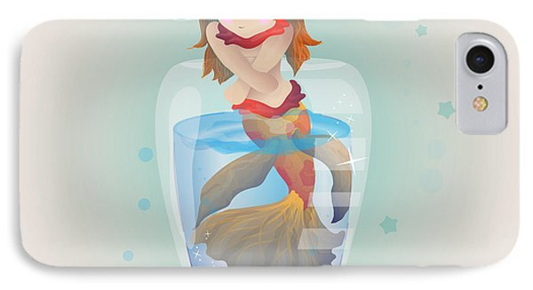 Mermaid In A Glass Phone Case by Mellisa Ward