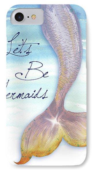 Mermaid iPhone 7 Case - Mermaid Tail II by Elizabeth Medley
