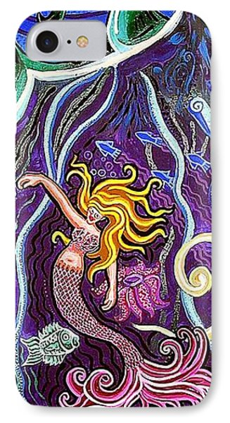 Mermaid Under The Sea Phone Case by Genevieve Esson