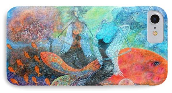 Mermaid World IPhone Case by Vandana Devendra