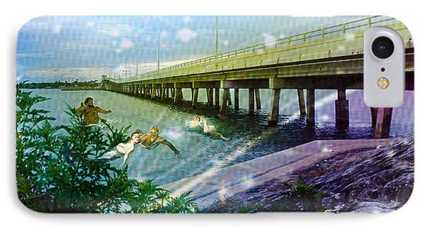 Mermaids In Indian River IPhone Case by Megan Dirsa-DuBois