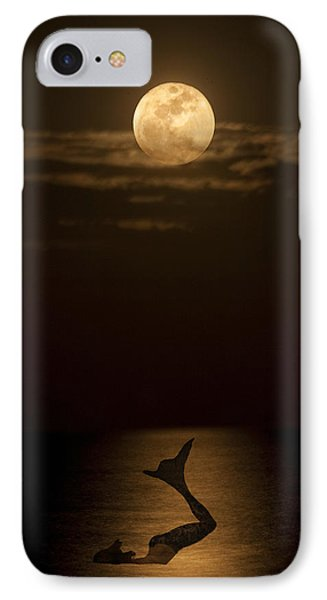 IPhone Case featuring the photograph Mermaid's Moonsong by Paula Porterfield-Izzo
