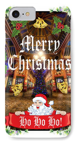 Merry Christmas 002 IPhone Case by Jack Torcello