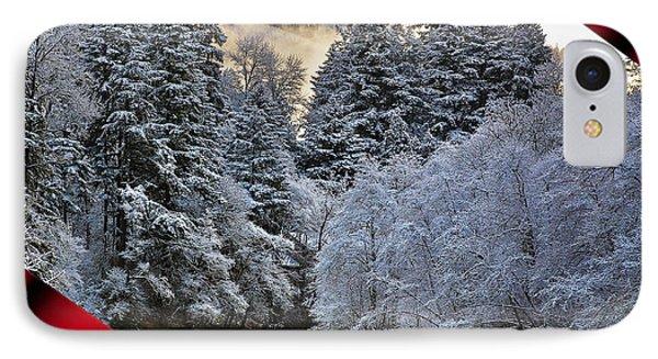 Merry Christmas Card Phone Case by Belinda Greb