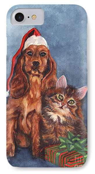 Merry Christmas IPhone Case by Carol Wisniewski