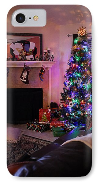 IPhone Case featuring the photograph Merry Christmas From My Home To Yours by Trish Mistric