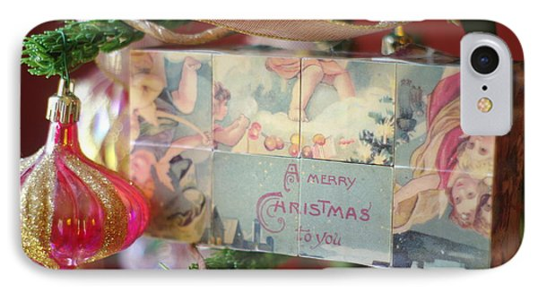 IPhone Case featuring the photograph Merry Christmas Greeting by Suzanne Powers