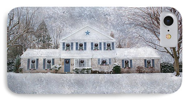 Wintry Holiday IPhone Case by Shelley Neff
