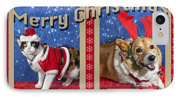 Merry Christmas IPhone Case by Melany Sarafis