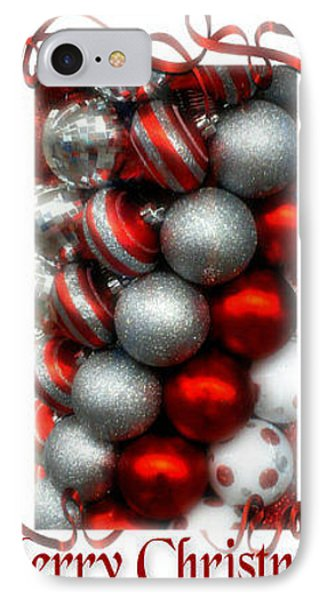 Merry Christmas Phone Case by Michelle Frizzell-Thompson