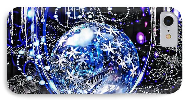 Merry Christmas IPhone Case by Mo T