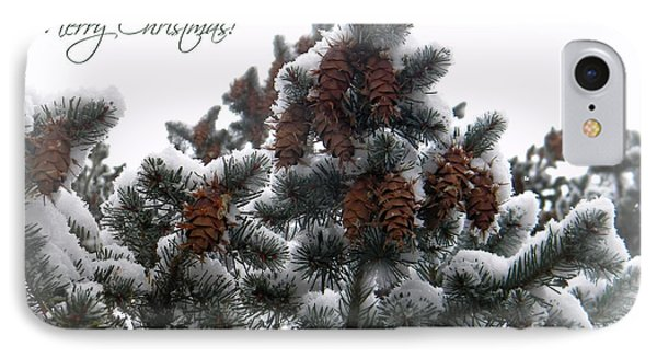 Merry Christmas Pinecones Phone Case by Michelle Frizzell-Thompson