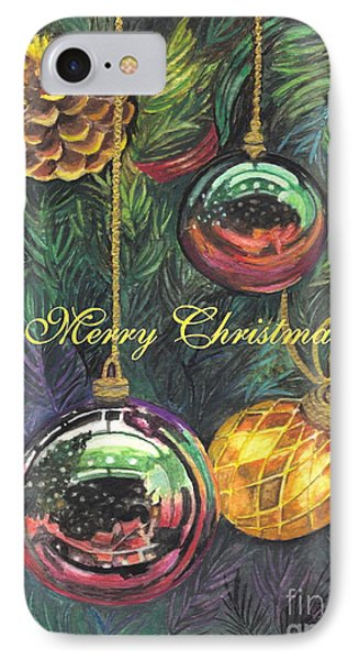 Merry Christmas Wishes IPhone Case by Carol Wisniewski
