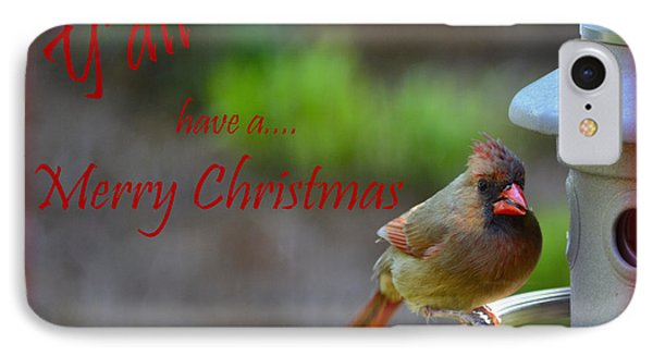 IPhone Case featuring the photograph Merry Christmas Y'all by Larry Bishop