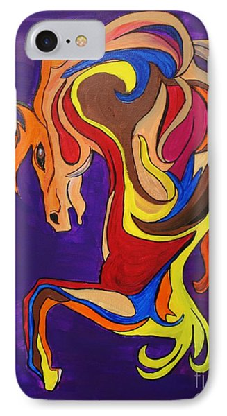 IPhone Case featuring the painting Merry Go Round Carousel Horse by Janice Rae Pariza