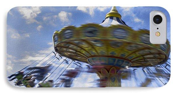 Merry Go Round Swings IPhone Case by Ralph Vazquez