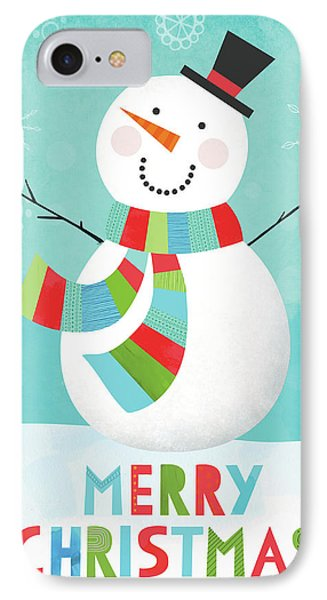 Merry Snowman IIi IPhone Case
