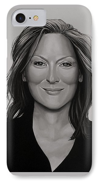 Meryl Streep IPhone Case by Paul Meijering