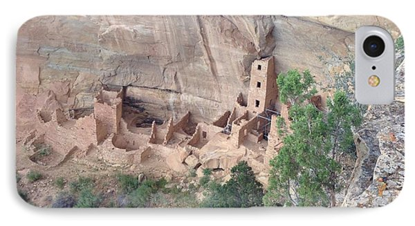 Mesa Verde Colorado Cliff Dwellings 1 IPhone Case by Richard W Linford